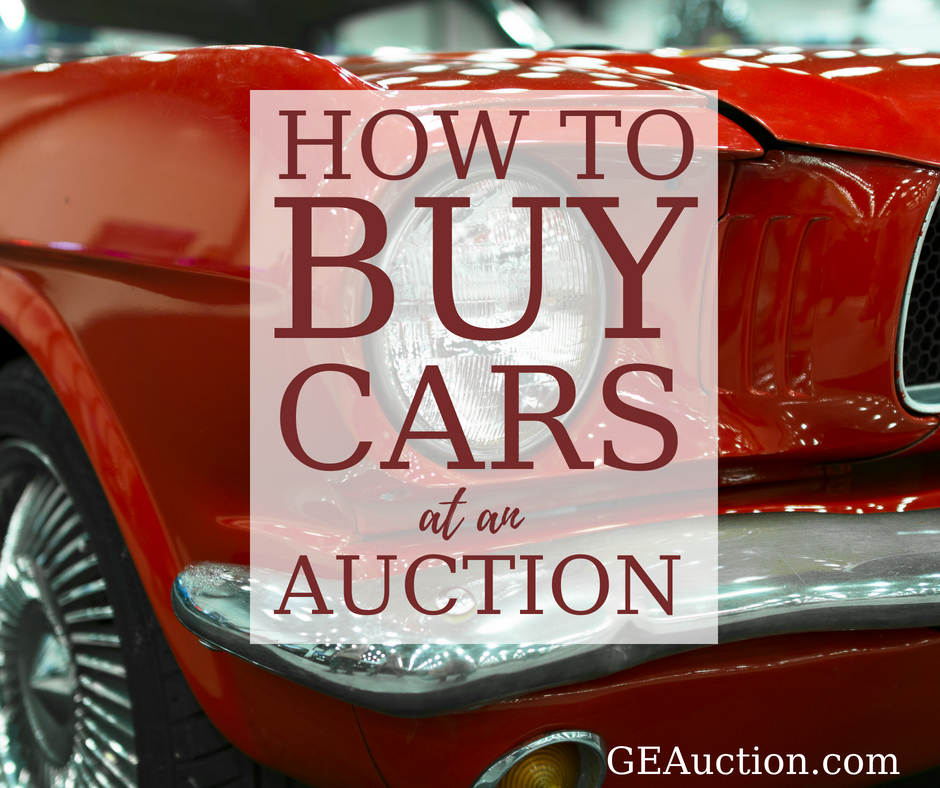 Buying Cars At Auction How It Works Great Expectations Auction Estate Services